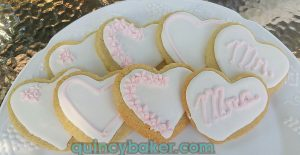 Royal Icing Sugar Cookie Hearts