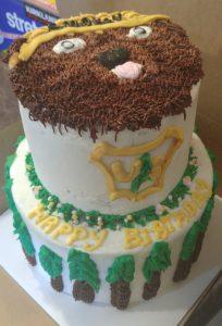 Smokey the Bear USFS retirement cake.