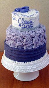 Tiered Graduation Cake.