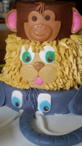 monkey lion elephant jungle cake icing smiles